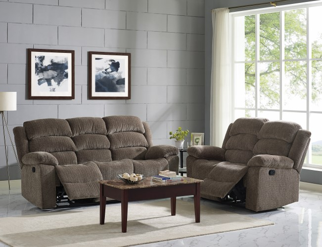 22 2134 AUSTIN STONE/CHOCOLATE PAD OVER CHASE ROCKER/RECLINER